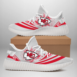 NFL Kansas City Chiefs Yeezy Boost White Sneakers V2