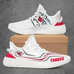 NFL Kansas City Chiefs Yeezy Boost White Sneakers V3