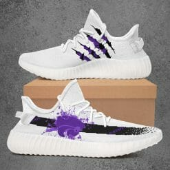 NCAA Kansas State Wildcats Yeezy Boost White Sneakers V1