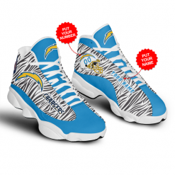 NFL Los Angeles Chargers Air Jordan 13 Shoes Personalized V2