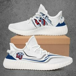 NCAA Liberty Flames Yeezy Boost White Sneakers V3