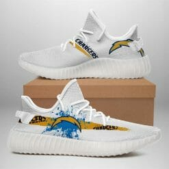 NFL Los Angeles Chargers Yeezy Boost White Sneakers V1