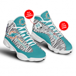 NFL Miami Dolphins Air Jordan 13 Shoes Personalized V2
