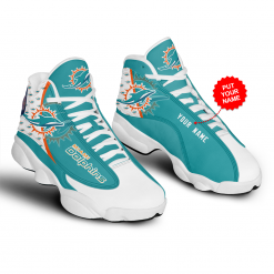 NFL Miami Dolphins Air Jordan 13 Shoes Personalized V1