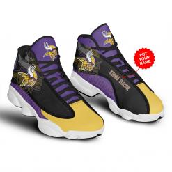 NFL Minnesota Vikings Air Jordan 13 Shoes Personalized V1