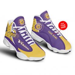 NFL Minnesota Vikings Air Jordan 13 Shoes Personalized V3