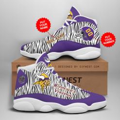 NFL Minnesota Vikings Air Jordan 13 Shoes Personalized V2