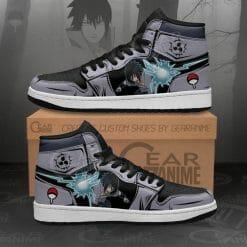 Naruto Anime Sasuke Uchiha Air Jordan 1 Shoes V2