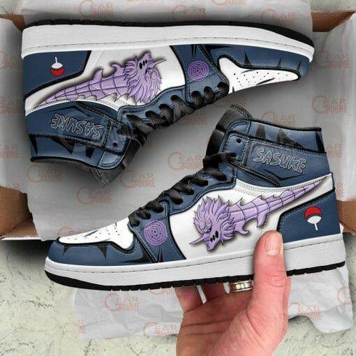 Naruto Anime Sasuke Uchiha Air Jordan 1 Shoes V4
