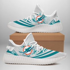 NFL Miami Dolphins Yeezy Boost White Sneakers V2