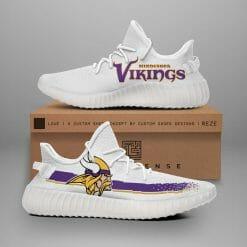 NFL Minnesota Vikings Yeezy Boost White Sneakers V1