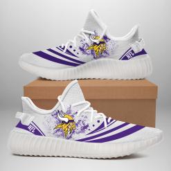 NFL Minnesota Vikings Yeezy Boost White Sneakers V2