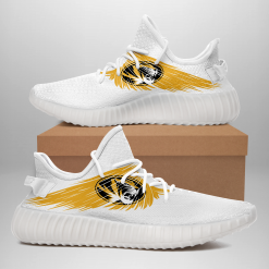 NCAA Missouri Tigers Yeezy Boost White Sneakers V4
