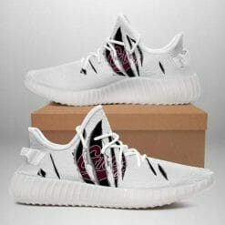 NCAA Montana Grizzlies Yeezy Boost White Sneakers V4
