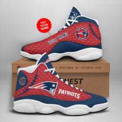NFL New England Patriots Air Jordan 13 Shoes Personalized V3