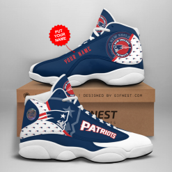 NFL New England Patriots Air Jordan 13 Shoes Personalized V4
