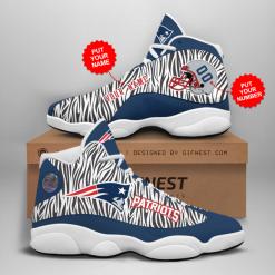 NFL New England Patriots Air Jordan 13 Shoes Personalized V2