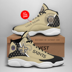 NFL New Orleans Saints Air Jordan 13 Shoes Personalized V1