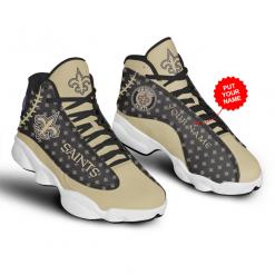 NFL New Orleans Saints Air Jordan 13 Shoes Personalized V3