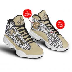 NFL New Orleans Saints Air Jordan 13 Shoes Personalized V2