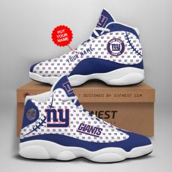 NFL New York Giants Air Jordan 13 Shoes Personalized V3