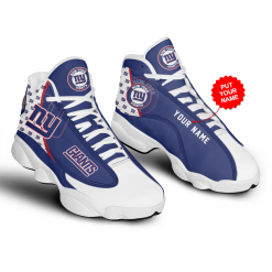 NFL New York Giants Air Jordan 13 Shoes Personalized V1