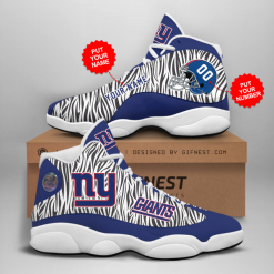 NFL New York Giants Air Jordan 13 Shoes Personalized V2