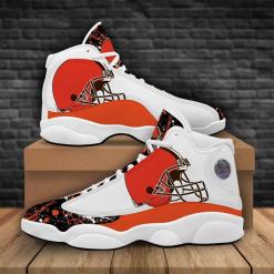 NFL Cleveland Browns Air Jordan 13 Shoes V2