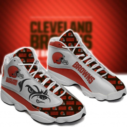NFL Cleveland Browns Air Jordan 13 Shoes V3