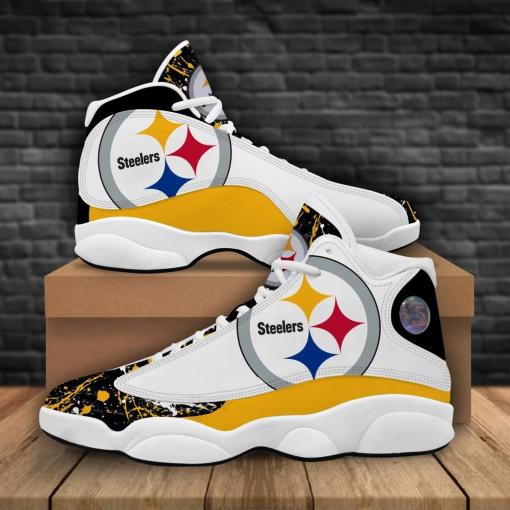 NFL Pittsburgh Steelers Air Jordan 13 Shoes V2