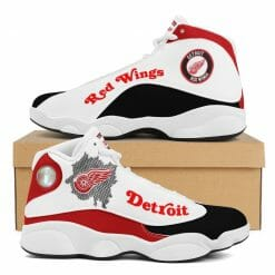 NHL Detroit Red Wings Air Jordan 13 Shoes V2