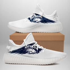 NCAA Nevada Wolf Pack Yeezy Boost White Sneakers V4