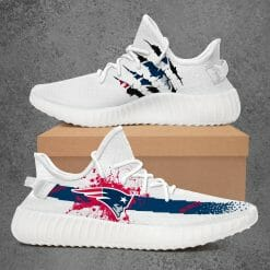 NFL New England Patriots Yeezy Boost White Sneakers V1