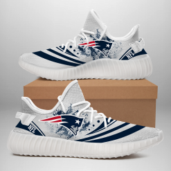 NFL New England Patriots Yeezy Boost White Sneakers V2