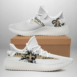 NFL New Orleans Saints Yeezy Boost White Sneakers V1