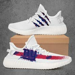 NFL New York Giants Yeezy Boost White Sneakers V1