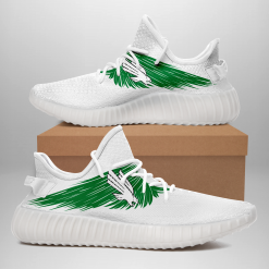NCAA North Texas Mean Green Yeezy Boost White Sneakers V4