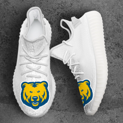 NCAA Northern Colorado Bears Yeezy Boost White Sneakers V4