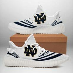 NCAA Notre Dame Fighting Irish Yeezy Boost White Sneakers V2
