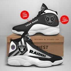 NFL Oakland Raiders Air Jordan 13 Shoes Personalized V1