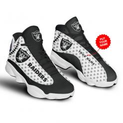 NFL Oakland Raiders Air Jordan 13 Shoes Personalized V3