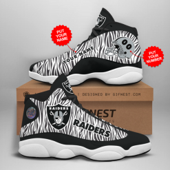 NFL Oakland Raiders Air Jordan 13 Shoes Personalized V2
