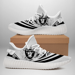 NFL Oakland Raiders Yeezy Boost White Sneakers V2