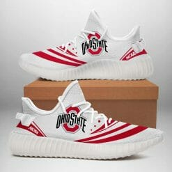 NCAA Ohio State Buckeyes Yeezy Boost White Sneakers V2