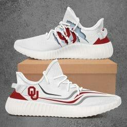 NCAA Oklahoma Sooners Yeezy Boost White Sneakers V3