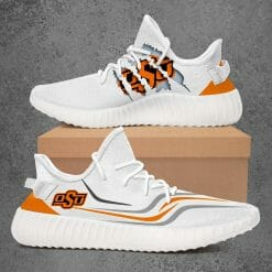 NCAA Oklahoma State Cowboys Yeezy Boost White Sneakers V3