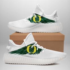 NCAA Oregon Ducks Yeezy Boost White Sneakers V4