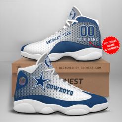 NFL Dallas Cowboys Air Jordan 13 Shoes Personalized V15
