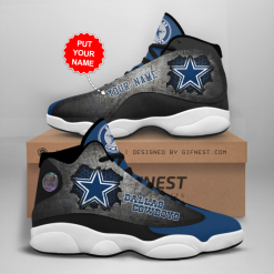 NFL Dallas Cowboys Air Jordan 13 Shoes Personalized V12