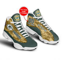 NFL Green Bay Packers Air Jordan 13 Shoes Personalized V3